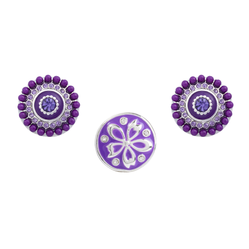 Purple Clematis Dot Set